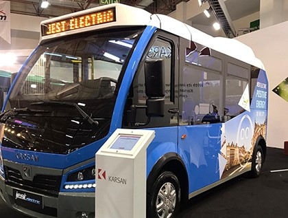 Karsan deltog i Busworld Fair Turkey med sina elmodeller!