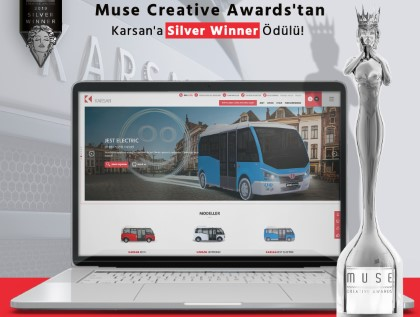 Le site Web de Karsan récompensé au Muse Creative Awards !