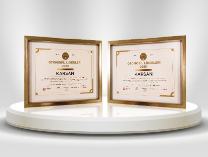 Karsan receives 2 awards